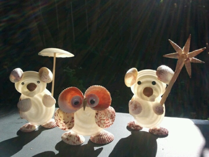 Seashell creatures baby kids stuff and stuff they can for Animals made out of seashells