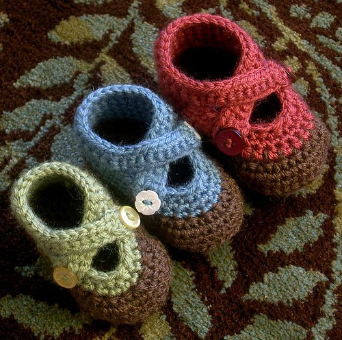 double strap baby booties