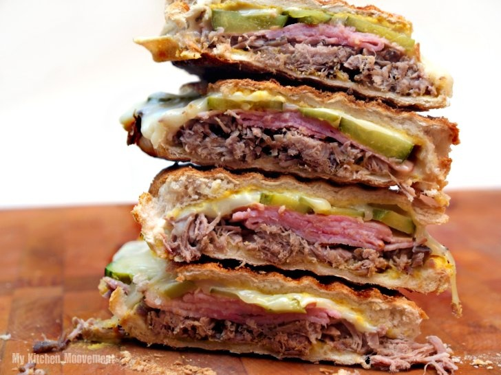 Cuban Sandwich - roast pork recipe included.....