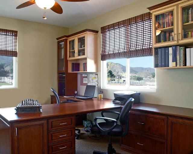 Home Office 2 Person Desk Design Cleaning Organizing