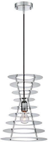 """Possini Euro Design Tower 11 3/4"""" Wide Chrome Pendant Light by Possini"""