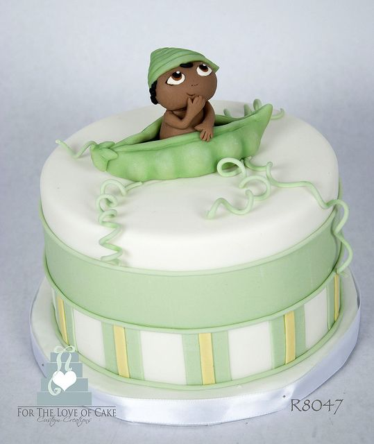 R8047-peopod-baby-shower-cake-toronto-oakville by www.fortheloveofcake ...