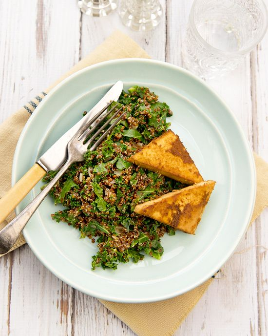 Kale Quinoa & Baked Ginger Tofu | Juicy, Clean & Green | Pinterest