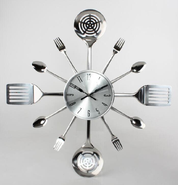 Reloj de cocina con utensilios original y funcional - Relojes de pared cocina ...