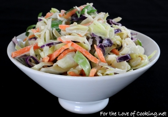 Light and Tangy Cole Slaw | veggie tales | Pinterest