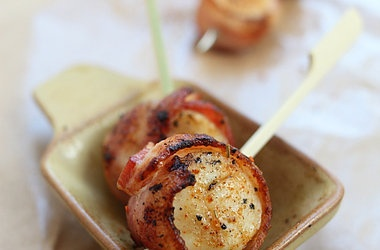 Grilled Bacon-Wrapped Scallops Recipe — Dishmaps