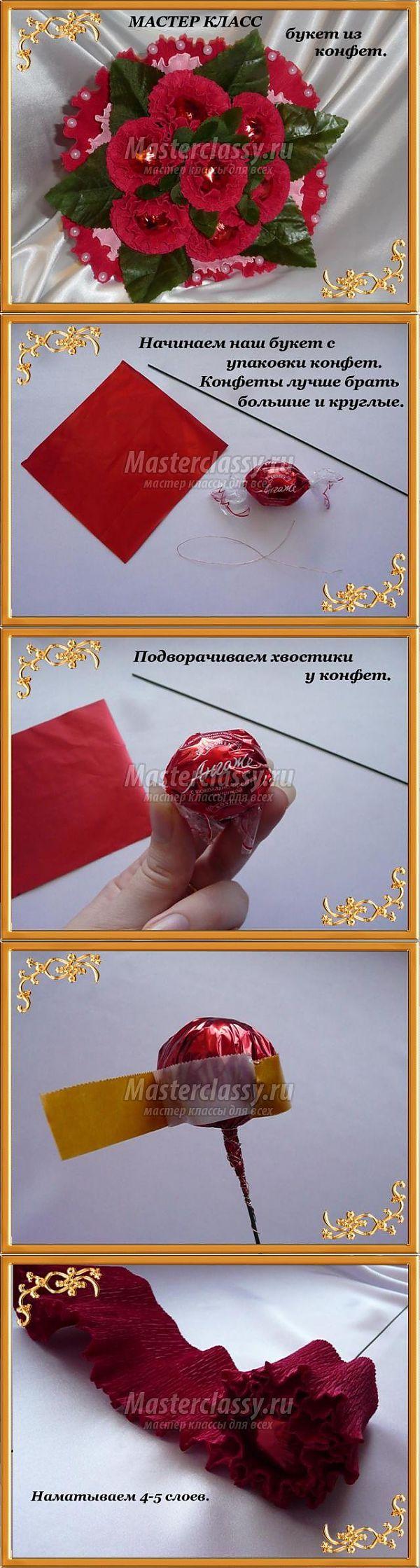 Букет из конфет своими руками английская роза