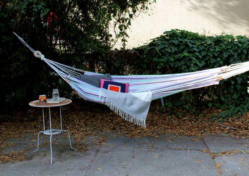 Backyard Hammock Diy : DIY PROJECT SIMPLE SUMMER HAMMOCK  garden this  Pinterest