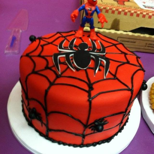 Spiderman Buttercream Cake Design : Spiderman birthday cake! kid ideas Pinterest