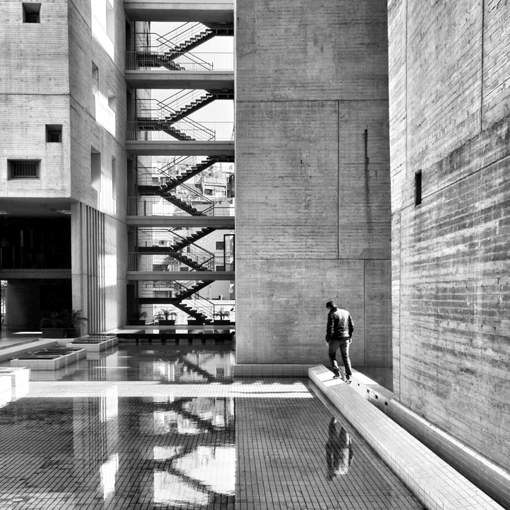 Sunday morning, by Serge Najjar | b&w perspective | Pinterest