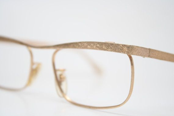 Antique Glasses Frames Unique shaped Small 1/20 10k Gold ...