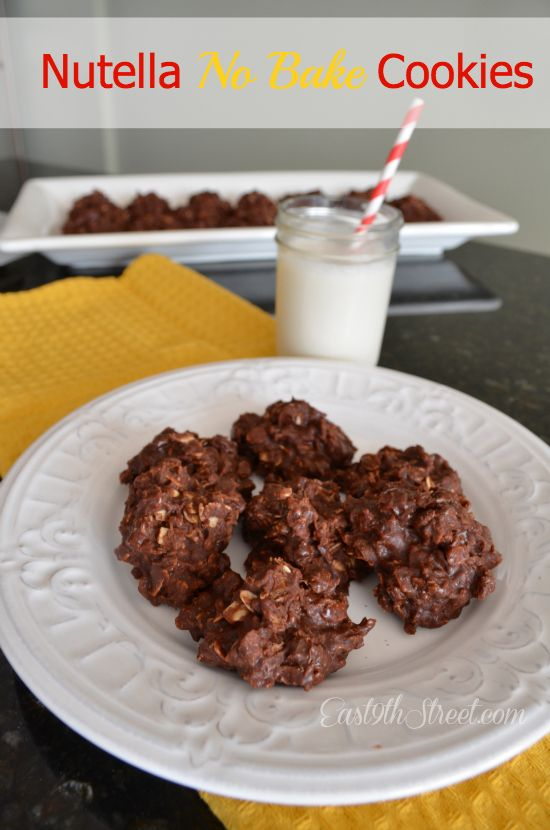 Easy Nutella No Bake Cookies - These are delish! I used JIF's version ...