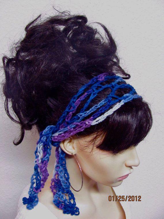 Crochet Gypsy Style Hair Band Pattern : hair scarfs GET 1 hair scarf FREE - Crochet Gypsy Style Hair Band ...