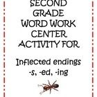 to review adding inflected endings -s, -ed, and -ing, great for First