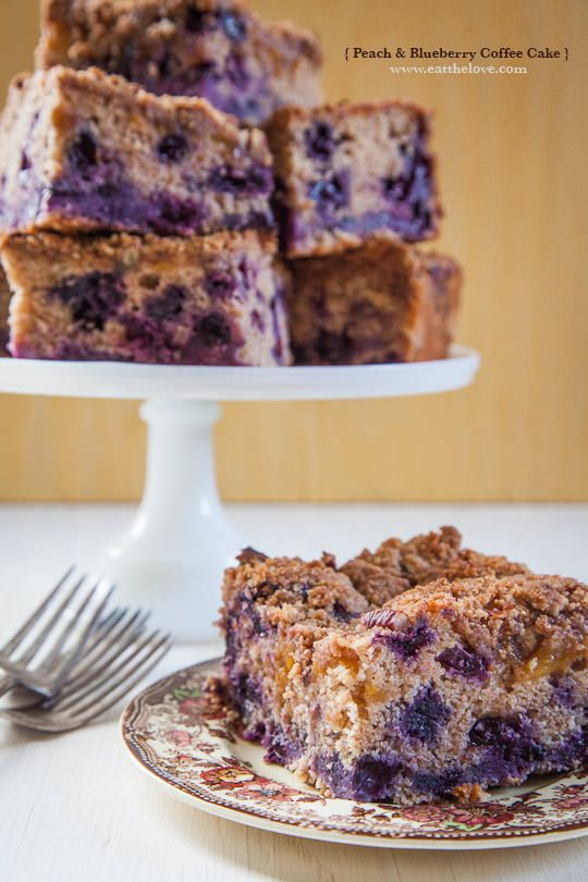 Peach and Blueberry Coffee Cake by Irvin Lin of Eat the Love. | www ...