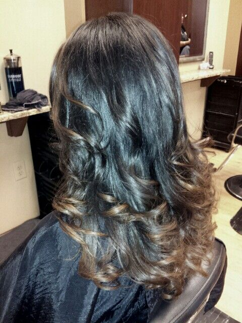 Dark brown to light brown ombre. | Hairstyles | Pinterest