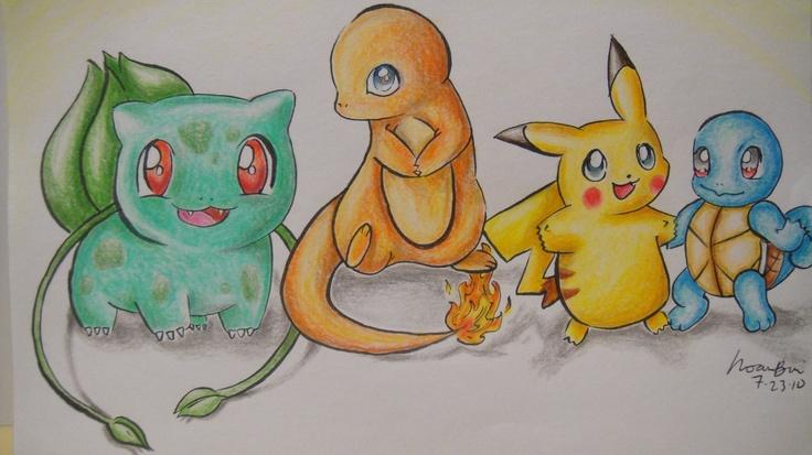 Bulbasaur, Charmander, Pikachu, Squirtle | Pokemon | Pinterest