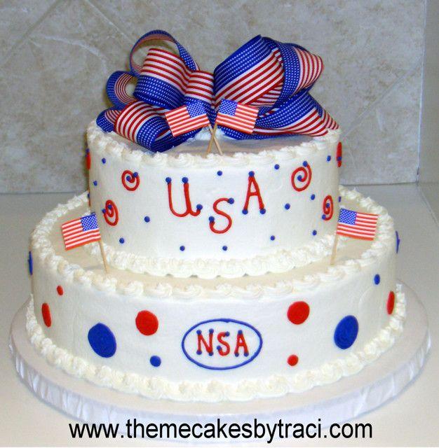 Cake Designs Usa : Patriotic/USA Cake Cake Designs Pinterest