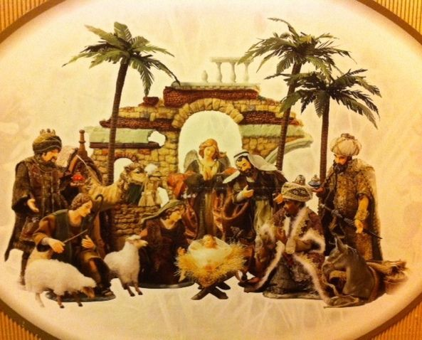 Large hand painted porcelain nativity set by member s mark