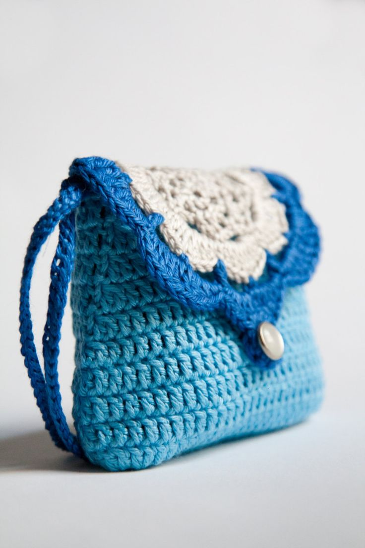 Crochet Wallet : Sweet crochet wallet (coin purse) with inner lining and hand strap by ...