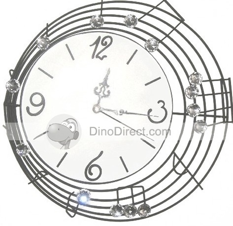 music note home decor wall clock accessible media center pics photos shop home decor wall art music notes wall