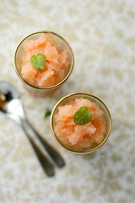 Grapefruit campari granita