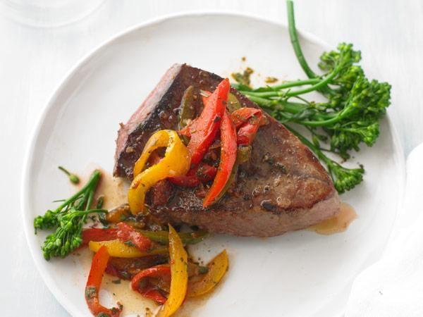 Ingredient Slow-Cooker Recipes: Pepper Steak http://www.prevention ...