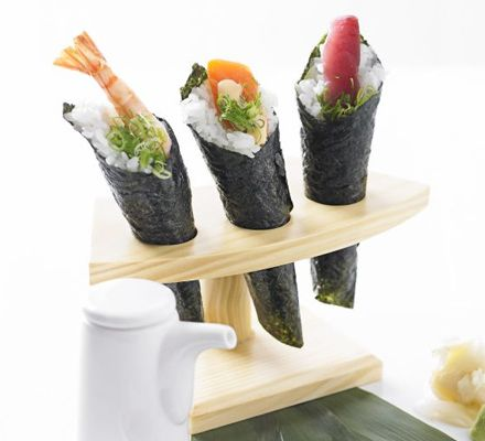 Sushi hand rolls (temaki) - http://www.bbcgoodfood.com/recipes/1931690 ...