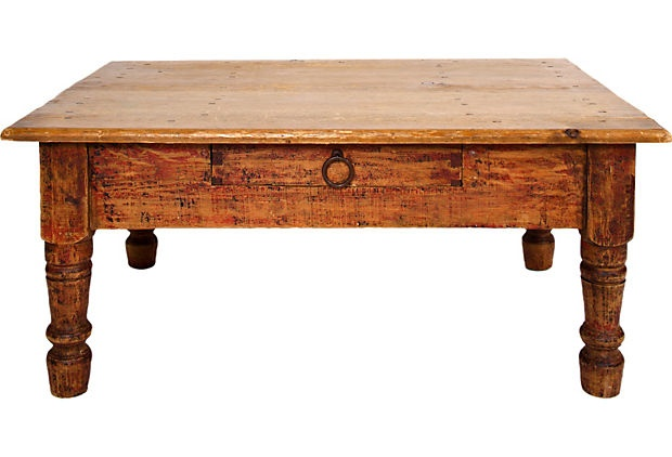 Distressed wood coffee table for Distressed wood coffee table set