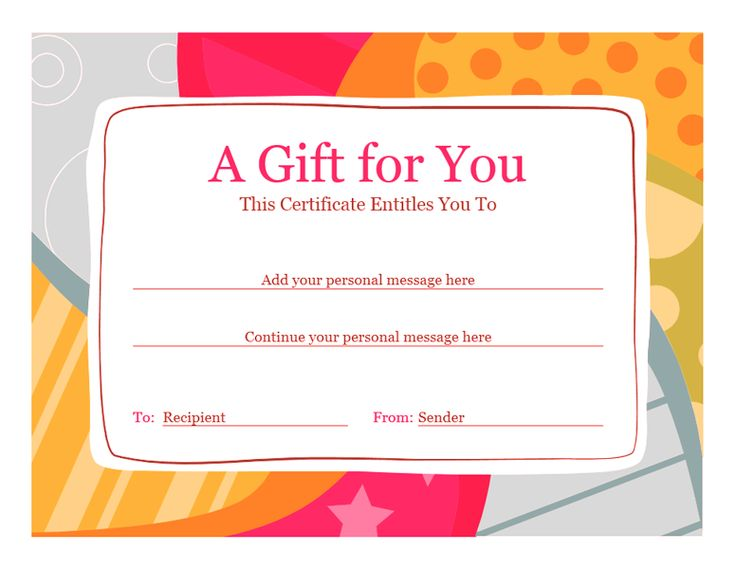 How to Plan Wording for a Gift Certificate Samples and Ideas
