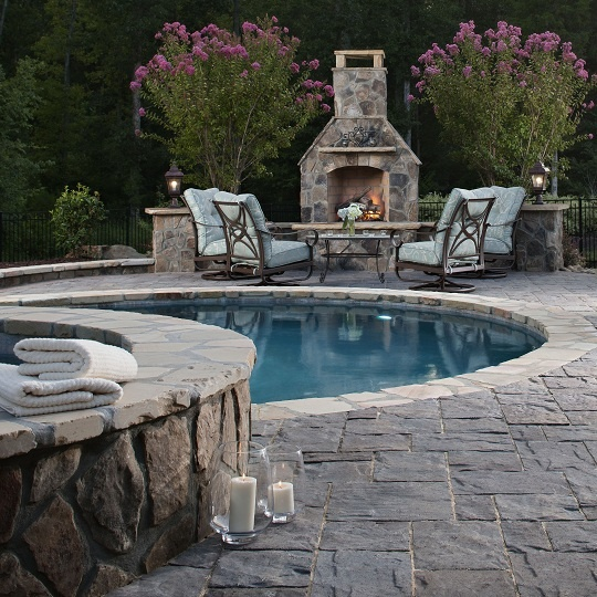 Firerock outdoor fireplace kit the great outdoors for Firerock fireplaces