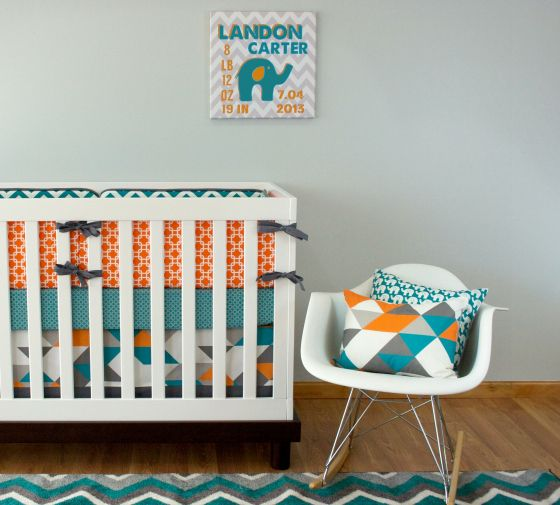 WIN IT! One Project Nursery reader will win a crib bedding set from Modified Tot including bumpers, rail guards or an elite sheet; a fitted sheet; and a crib skirt. Ends 10/25/13 #ProjectNursery #Giveaway