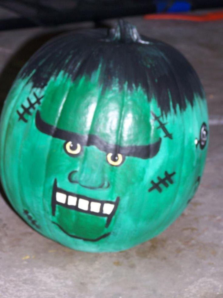 Frankenstein pumpkin crafts halloween pinterest - Breathtaking image of kid halloween decoration using frankestein jack o lantern pumpkin carving ...