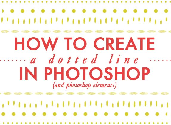 How to create a dotted line in photoshop