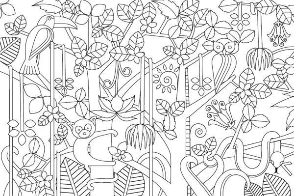 easy intricate design coloring pages - photo#14