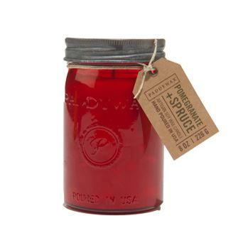 Mason Jar Candle - Pomegranate and Spruce  $20