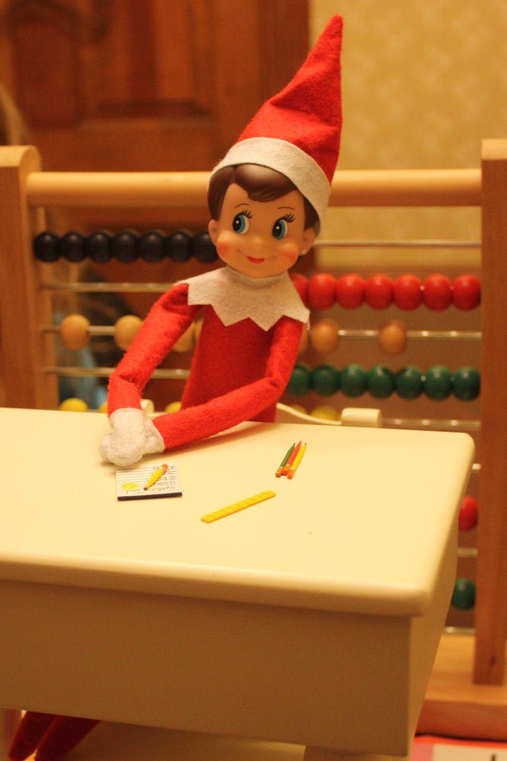 Elf on the Shelf doing school work   Elf on the shelf   Pinterest
