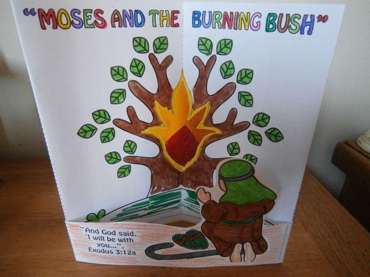 Moses and the burning bush craftMoses Burning Bush Craft