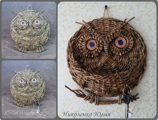 Мастер класс плетения совы ключницы