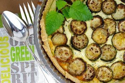Zucchini Ricotta Feta Tart | Quiche & Tarts | Pinterest