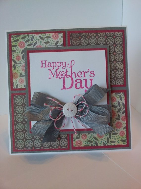Mother 39 S Day Card Handmade Card Making Pinterest