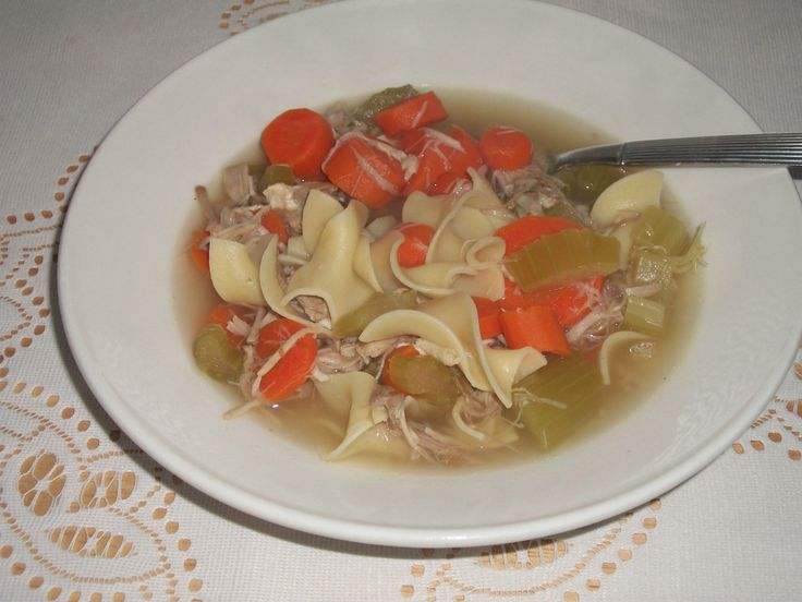 Slow Cooker (left over) Turkey Noodle Soup - a great way to use up ...