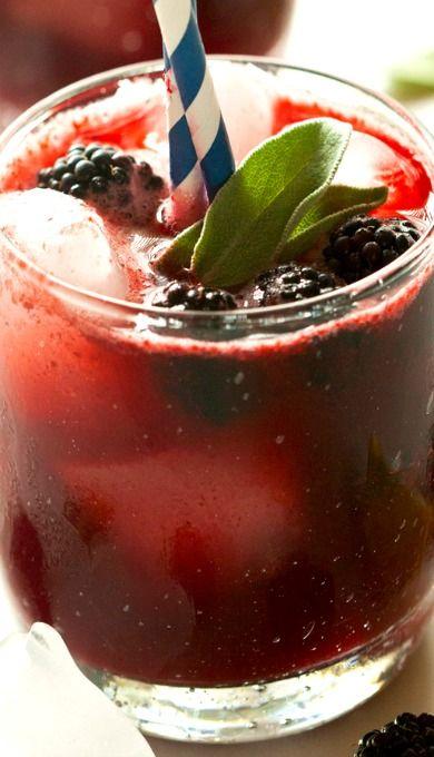 Blackberry Sage Lemonade Sparklers | Beverages | Pinterest