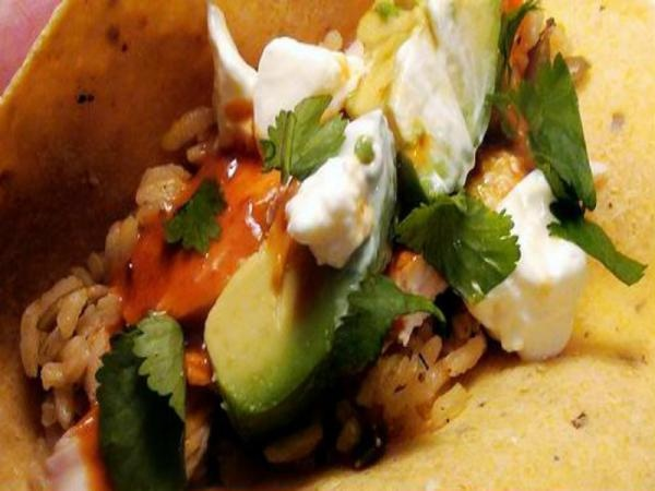 Chipotle Glazed Roast Chicken Tacos with Pumpkin Rice Recipe Video by ...