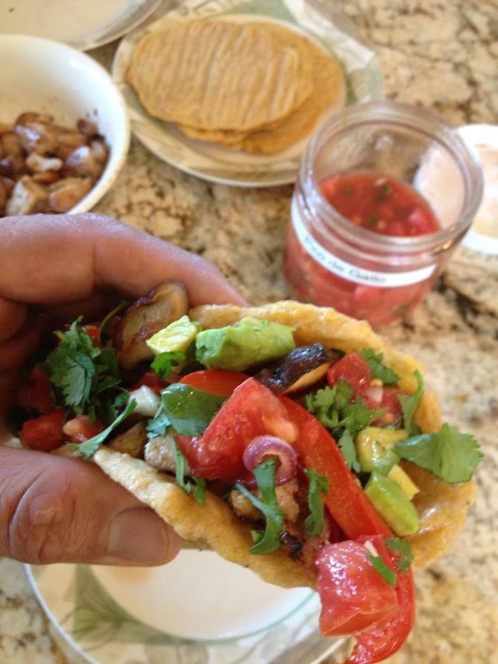 good with the plantain tortillas and heirloom tomato pico de gallo