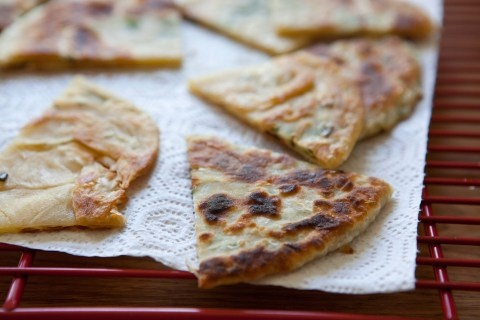 Chive Pancakes | Feelin' Snackish / Party Grub | Pinterest