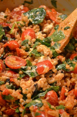 farro, roasted pepper, and tomato salad. | amour fou(d) | Pinterest