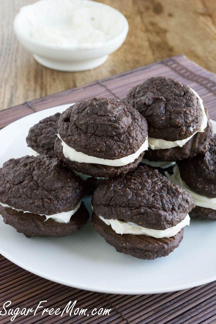 Sugar- Free Chocolate Oatmeal Whoopie Pies/ sugarfreemom.com