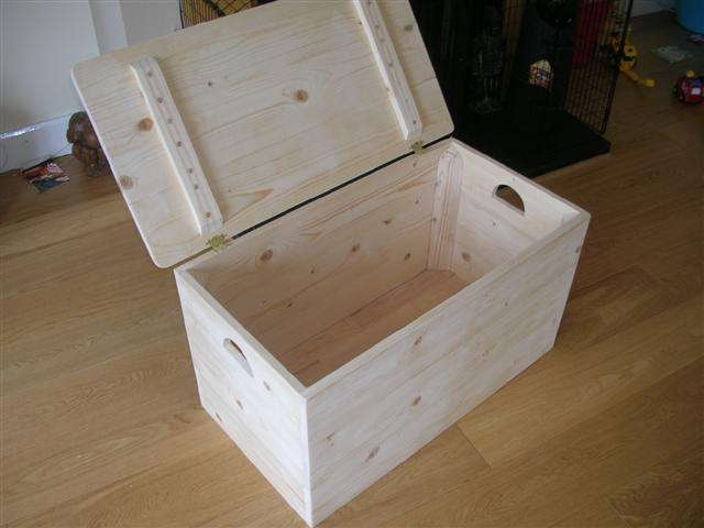 instructions and safety hardware needed to make a toy chest