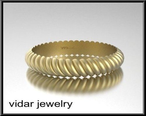 For her or him  unisex 14k gold twisted  Wedding by Vidarjewelry, $750.00